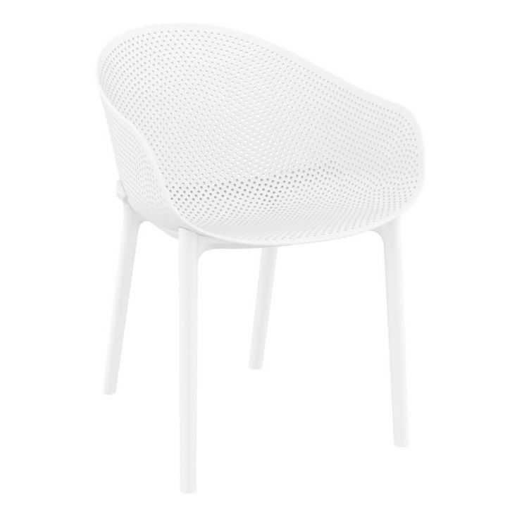 Salsa White Outdoor Chair Garden Furniture Smithers of Stamford £129.00 Store UK, US, EU, AE,BE,CA,DK,FR,DE,IE,IT,MT,NL,NO,ES,SE