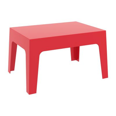 Red Outdoor Box Coffee Table