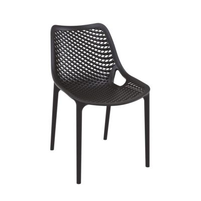 Tango Black Stackable Outdoor Chair