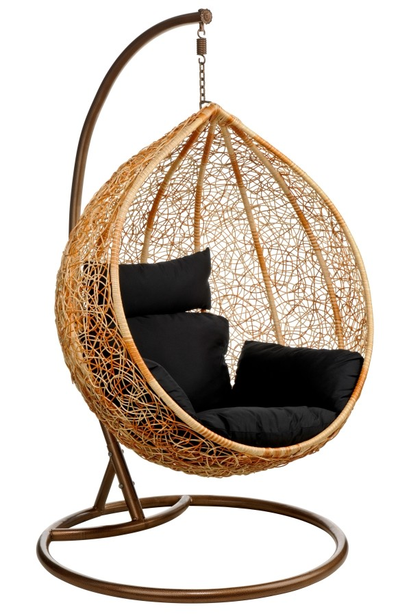 Hanging Egg Chair u0026 Wicker Ceiling Chair Hang in Retro Style
