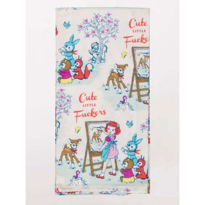Cute Little F*ckers Tea Towel