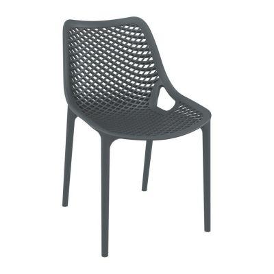 Tango Dark Grey Stackable Outdoor Chair