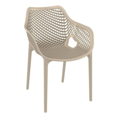 Tango Taupe Stackable Outdoor Arm Chair