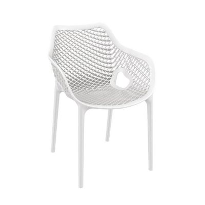 Tango White Stackable Outdoor Arm Chair