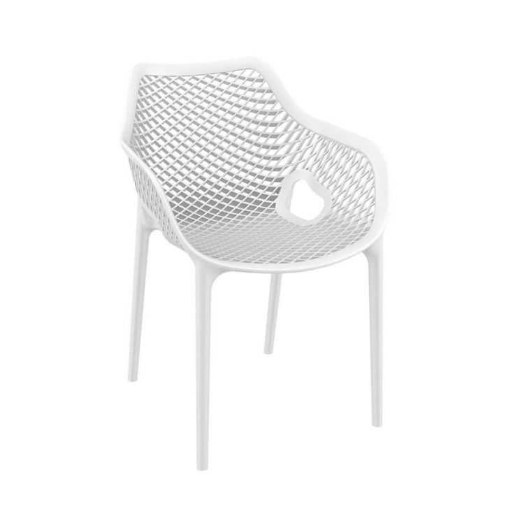 Tango White Stackable Outdoor Arm Chair Garden Furniture Smithers of Stamford £140.00 Store UK, US, EU, AE,BE,CA,DK,FR,DE,IE,...
