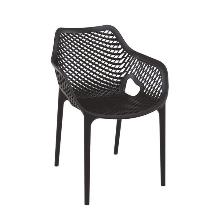 Tango Black Stackable Outdoor Arm Chair Garden Ideas Smithers of Stamford £ 118.00 Store UK, US, EU, AE,BE,CA,DK,FR,DE,IE,IT,...