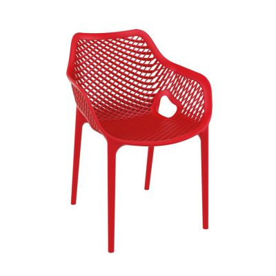 Tango Red Stackable Outdoor Arm Chair