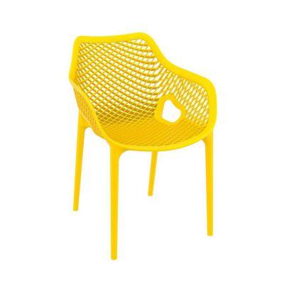 Tango Yellow Stackable Outdoor Arm Chair