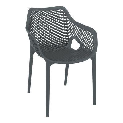 Tango Dark Grey Stackable Outdoor Arm Chair