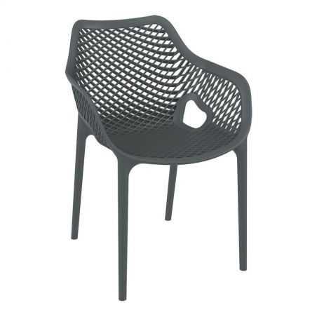 Tango Dark Grey Stackable Outdoor Arm Chair Garden Furniture Smithers of Stamford £140.00 Store UK, US, EU, AE,BE,CA,DK,FR,DE...