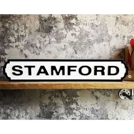 Stamford Road Sign Retro Signs Smithers of Stamford £ 35.00 Store UK, US, EU, AE,BE,CA,DK,FR,DE,IE,IT,MT,NL,NO,ES,SE