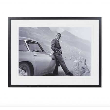 Sean Connery With Aston Martin DB5 Vintage Wall Art  £ 132.00 Store UK, US, EU, AE,BE,CA,DK,FR,DE,IE,IT,MT,NL,NO,ES,SE