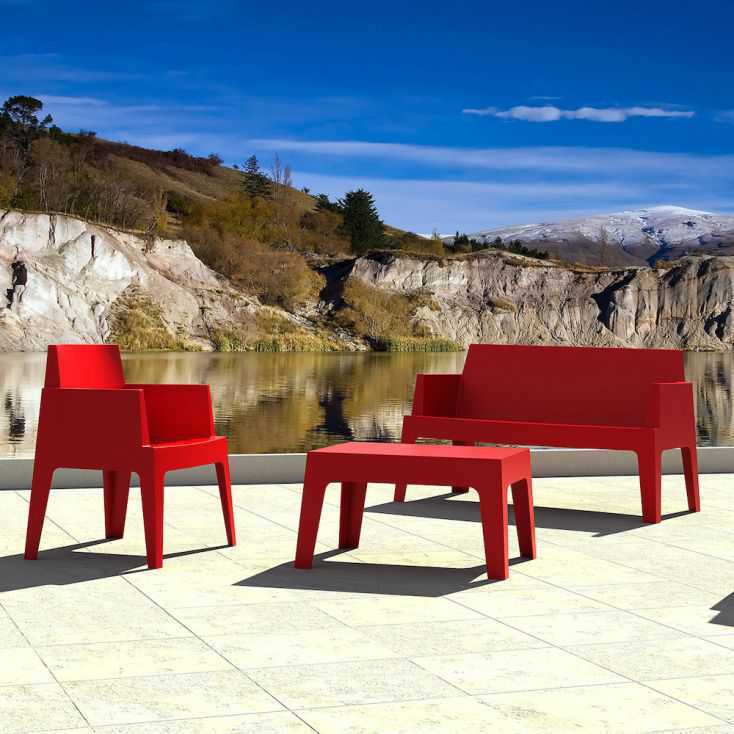 Outdoor Red Box Sofa Garden Furniture Smithers of Stamford £269.00 Store UK, US, EU, AE,BE,CA,DK,FR,DE,IE,IT,MT,NL,NO,ES,SE