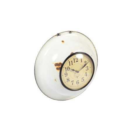 Upcycled Enamel Bowl Clock Vintage Clocks  £ 58.00 Store UK, US, EU, AE,BE,CA,DK,FR,DE,IE,IT,MT,NL,NO,ES,SE