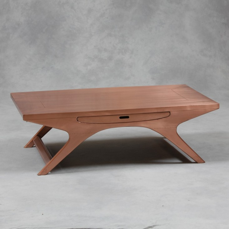 Copper Coffee Table with drawer