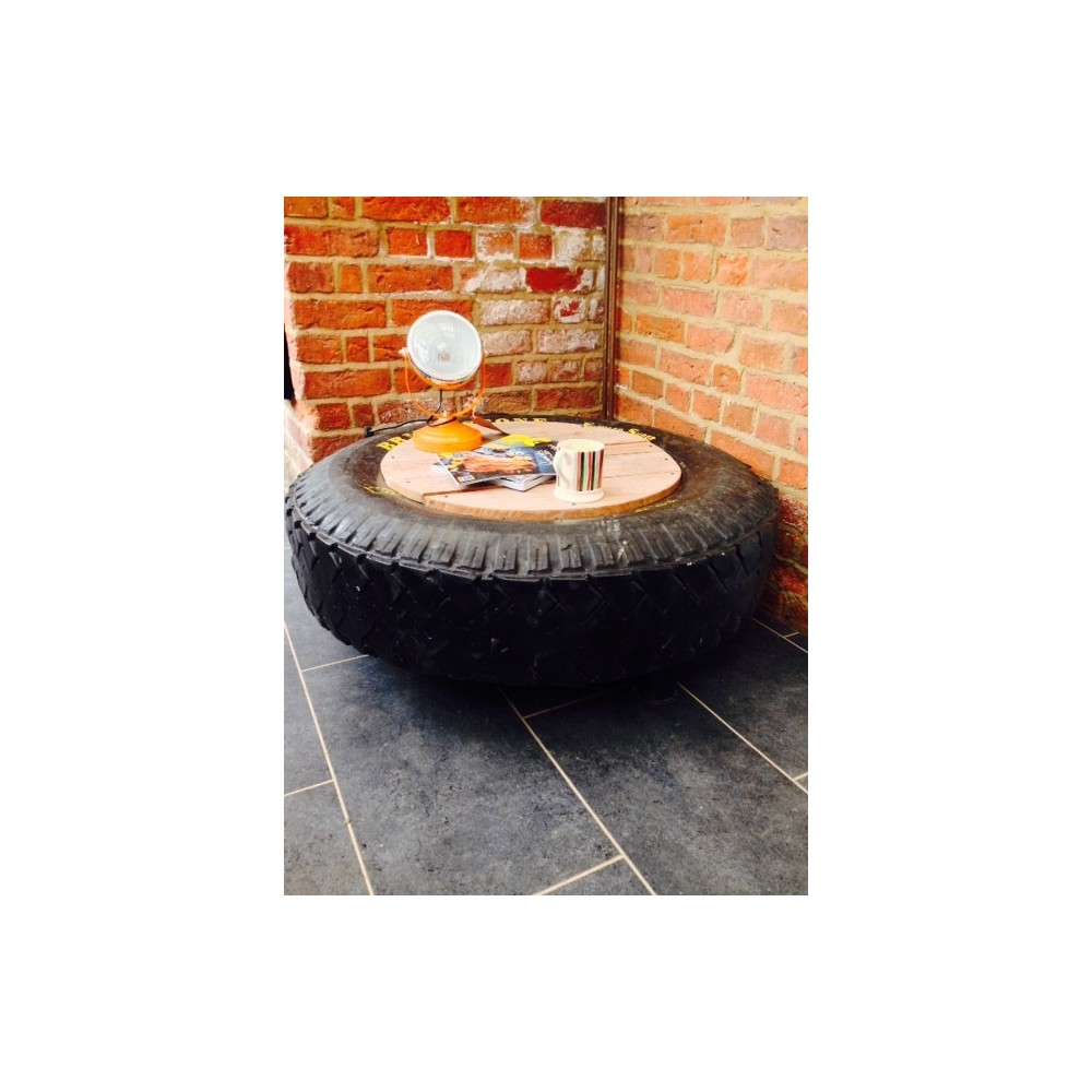 Recycled Coffee Table Tyre Upcycled Table Retro Home