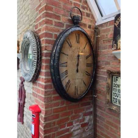 Antiqued Wall Pocket Watch Clock Home Smithers of Stamford £ 328.00 Store UK, US, EU, AE,BE,CA,DK,FR,DE,IE,IT,MT,NL,NO,ES,SE