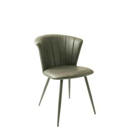 Green Leather Dining Chairs Set Industrial Furniture Smithers of Stamford £430.00 Store UK, US, EU, AE,BE,CA,DK,FR,DE,IE,IT,M...