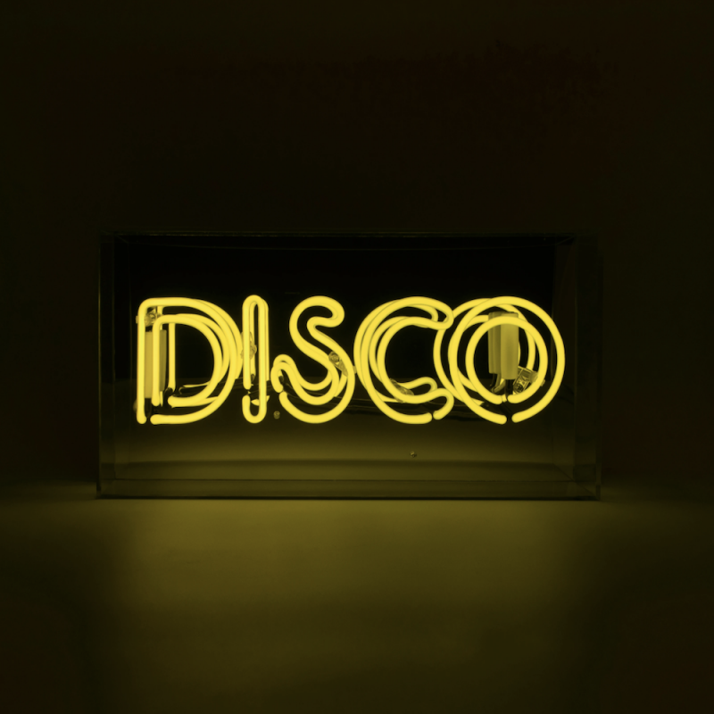 Yellow Disco Neon Light Neon Signs Smithers of Stamford £109.00 Store UK, US, EU, AE,BE,CA,DK,FR,DE,IE,IT,MT,NL,NO,ES,SE