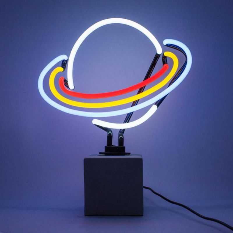 Saturn Neon Lamp Retro Gifts Seletti £69.00 Store UK, US, EU, AE,BE,CA,DK,FR,DE,IE,IT,MT,NL,NO,ES,SE