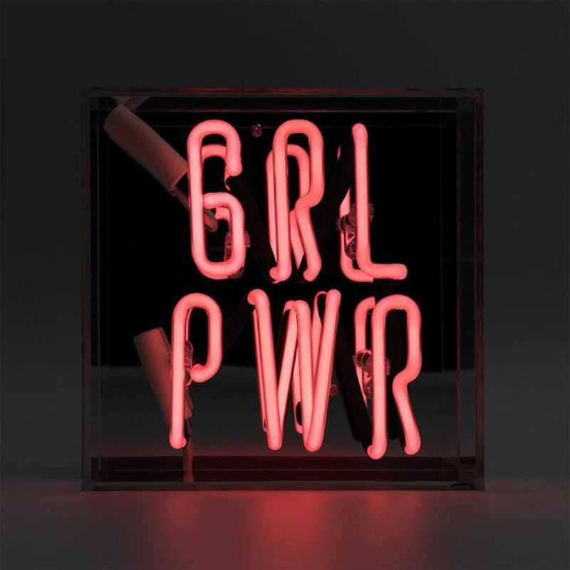 Girl Power Acrylic Box Mini Neon Neon Signs  £84.00 Store UK, US, EU, AE,BE,CA,DK,FR,DE,IE,IT,MT,NL,NO,ES,SE