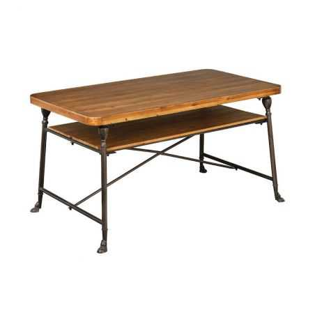Factory Two Tier Dining Table Industrial Furniture  £843.00 Store UK, US, EU, AE,BE,CA,DK,FR,DE,IE,IT,MT,NL,NO,ES,SE
