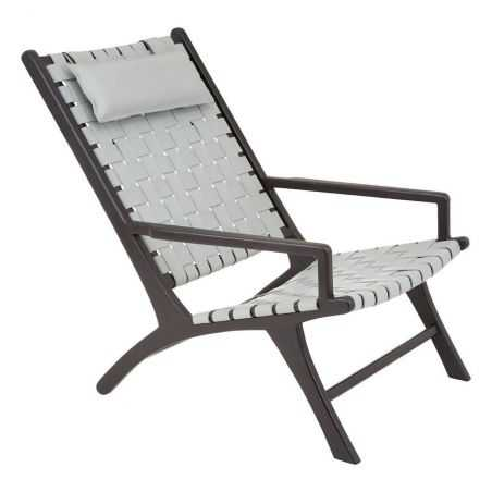 Grey Woven Leather Armchair Retro Furniture  £835.00 Store UK, US, EU, AE,BE,CA,DK,FR,DE,IE,IT,MT,NL,NO,ES,SE