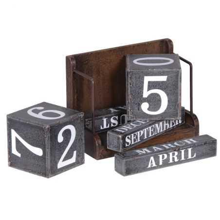 Metal Block Desk Calendar Retro Ornaments  £37.00 Store UK, US, EU, AE,BE,CA,DK,FR,DE,IE,IT,MT,NL,NO,ES,SE