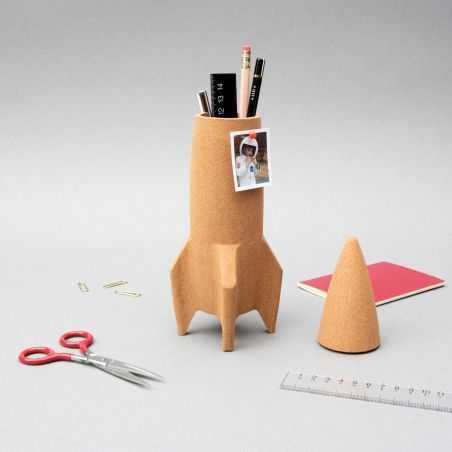 Cork Rocket Desk Tidy Retro Ornaments  £21.00 Store UK, US, EU, AE,BE,CA,DK,FR,DE,IE,IT,MT,NL,NO,ES,SE