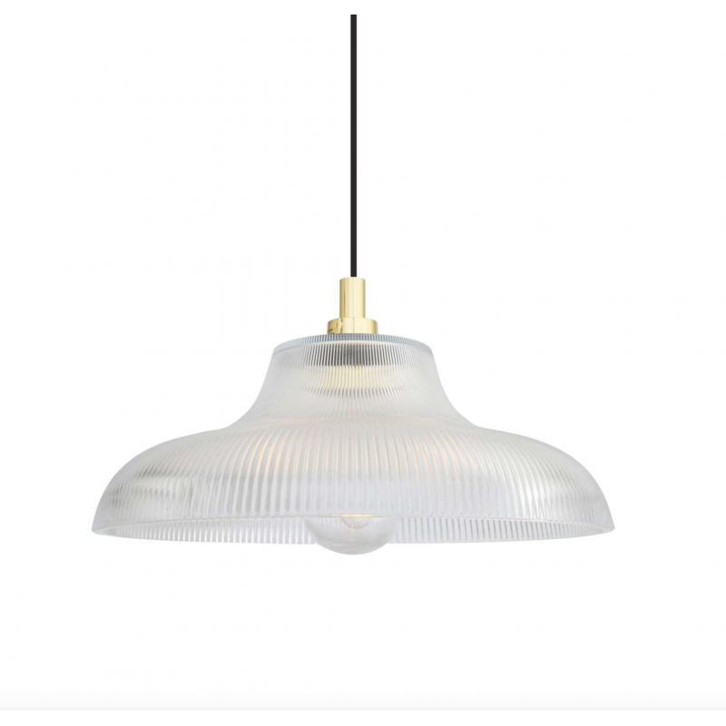 Glass Ribbed Pendant Light Smithers Archives Smithers of Stamford £225.00 Store UK, US, EU, AE,BE,CA,DK,FR,DE,IE,IT,MT,NL,NO,...