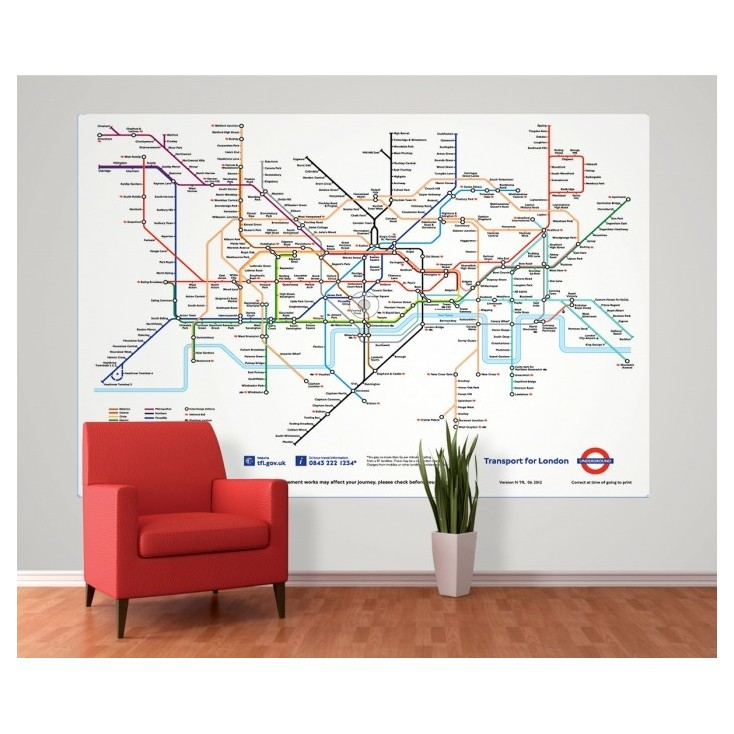 London Tube Map Mural