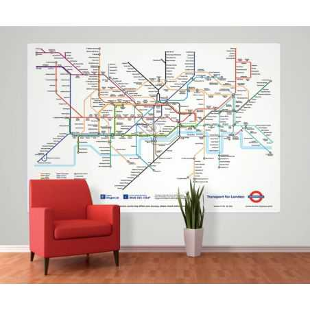 London Tube Map Mural Home Smithers of Stamford £ 49.00 Store UK, US, EU, AE,BE,CA,DK,FR,DE,IE,IT,MT,NL,NO,ES,SE