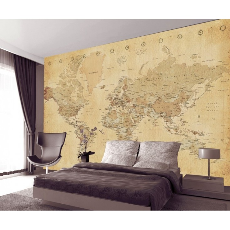 Vintage world map wallpaper gumiabroncs Image collections