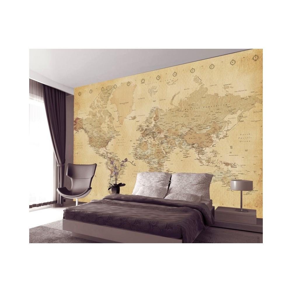 Vintage World Map Wallpaper | World Map Wallpaper For Home