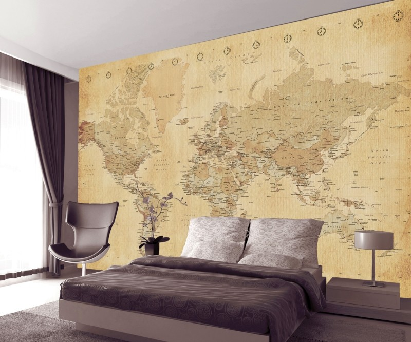 World Map Wallpaper vintage world map wallpaper | world maps in vintage design
