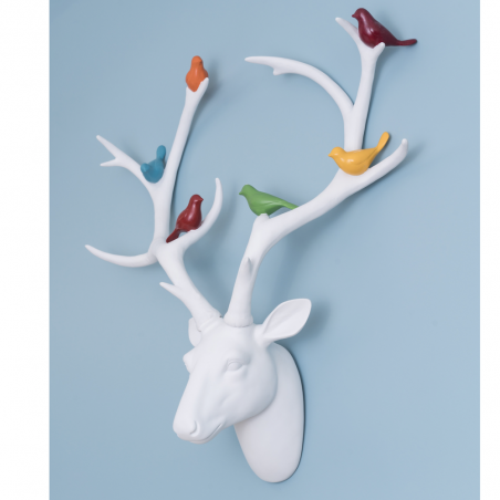 White Stag Head With Birds Retro Ornaments Smithers of Stamford £140.00 Store UK, US, EU, AE,BE,CA,DK,FR,DE,IE,IT,MT,NL,NO,ES,SE