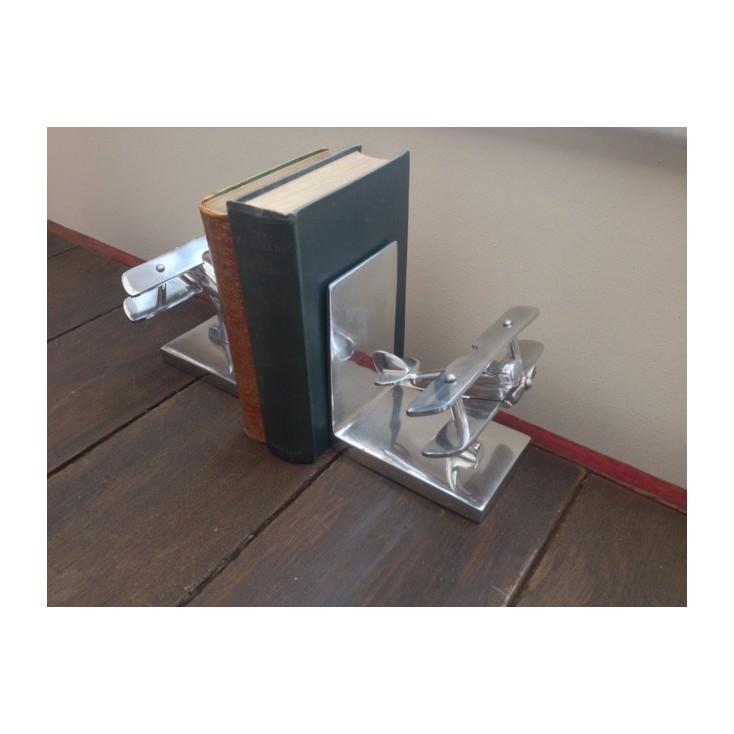 Aluminium Bookend Bi Plane Set