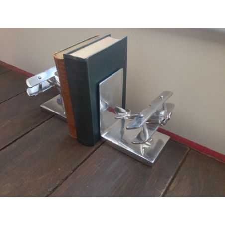 Aluminium Bookend Bi Plane Set Smithers Archives Smithers of Stamford £ 68.00 Store UK, US, EU, AE,BE,CA,DK,FR,DE,IE,IT,MT,NL...