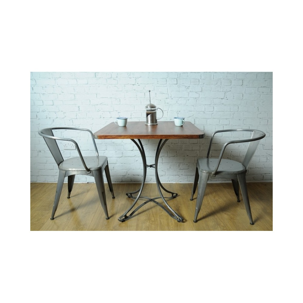 Small Industrial Dining Table: Small Square Industrial Dining Table