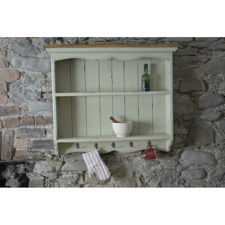 New England Style Kitchen Wall Unit In Shaker Vintage Style