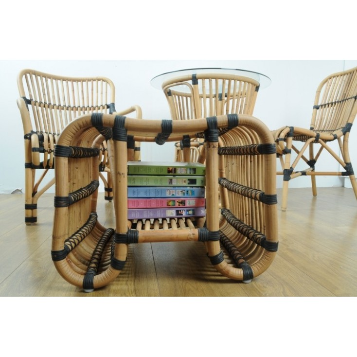 Retro Rattan Footstall