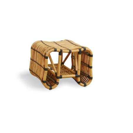 Retro Rattan Footstool Smithers Archives Smithers of Stamford £ 126.00 Store UK, US, EU, AE,BE,CA,DK,FR,DE,IE,IT,MT,NL,NO,ES,SE