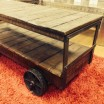 Industrial Trolley Cart Coffee Table