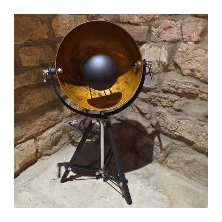 Vintage tripod spotlight table lamp the hippie corner - Tripod spotlight table lamp ...