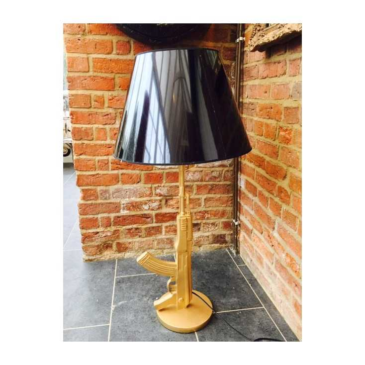 Gold gun Floor Lamp Smithers Archives Smithers of Stamford £243.75 Store UK, US, EU, AE,BE,CA,DK,FR,DE,IE,IT,MT,NL,NO,ES,SE
