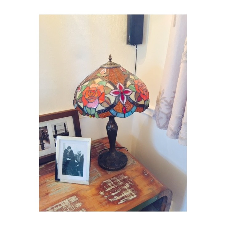 Rosa Lamp Tiffany style Home Smithers of Stamford £ 198.00 Store UK, US, EU, AE,BE,CA,DK,FR,DE,IE,IT,MT,NL,NO,ES,SE