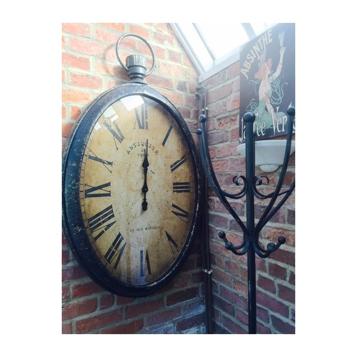 Antiqued Wall Pocket Watch Clock