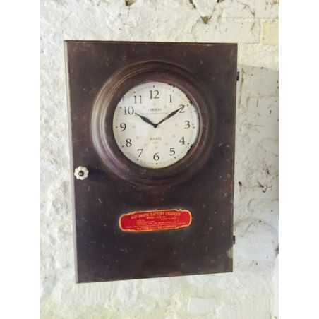 Industrial Clock Cabinet Home Smithers of Stamford £ 225.00 Store UK, US, EU, AE,BE,CA,DK,FR,DE,IE,IT,MT,NL,NO,ES,SE