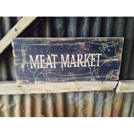 Meat market Wooden Sign Home Smithers of Stamford £ 27.00 Store UK, US, EU, AE,BE,CA,DK,FR,DE,IE,IT,MT,NL,NO,ES,SE