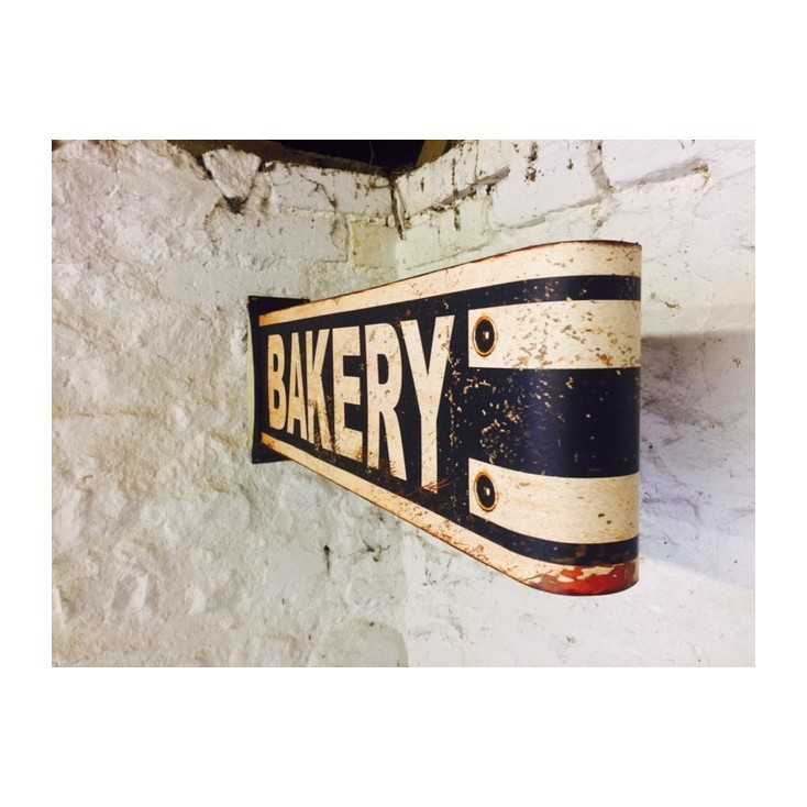 High Quality Baker Wall Sign In Metal For Quirky Nostalgic